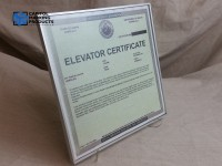 Elevator Inspection Certification Frame #1066